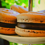 Chocolate Macarons with Espresso Ganache Filling