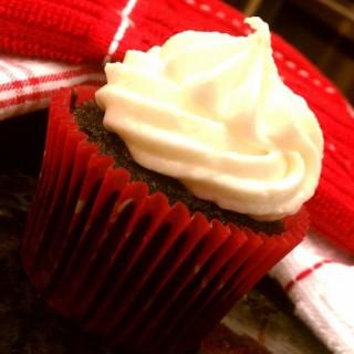 Strawberry Fudge Cupcakes