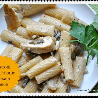 Rigatoni with Creamy Marsala Sauce