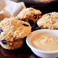 Blueberry Muffins with Maple Butter