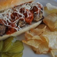Meatball Subs & Potato Chips