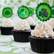 Irish Beer & Whiskey Cupcakes