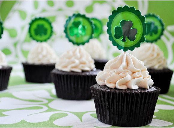 Irish Beer & Whiskey Cupcakes