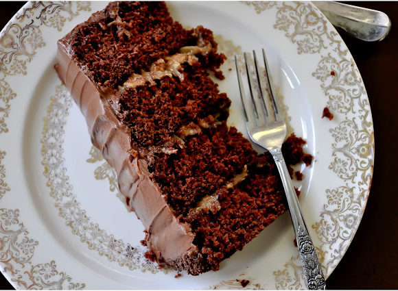 German Chocolate Fudge Cake