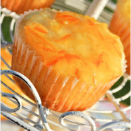 Orange-Yogurt Muffins with Marmalade Glaze & Brunch