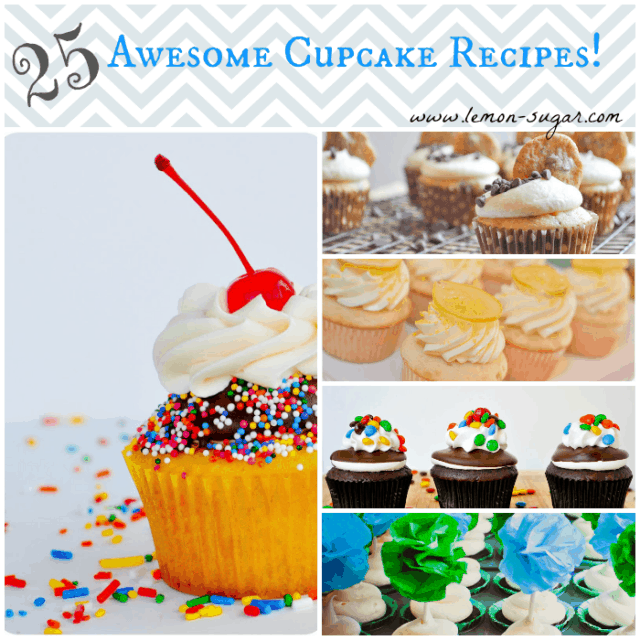 25 Awesome Cupcake Recipes | www.lemon-sugar.com