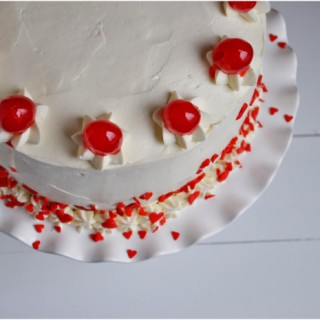 Cherry Almond Sour Cream Cake-1-4
