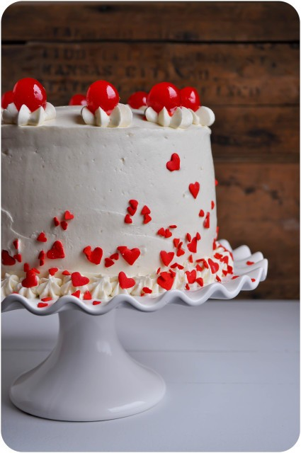 Cherry Almond Sour Cream Cake | www.lemon-sugar.com