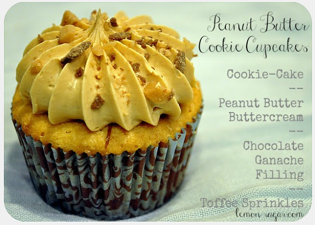Peanut Butter Cookie Cupcakes | www.lemon-sugar.com