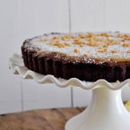 Brownie Tart with White Chocolate Biscoff Ganache + giveaway