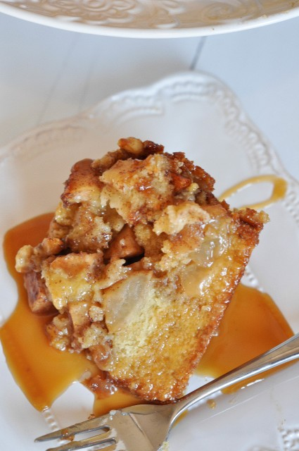IIrish Apple Cake with Irish Whiskey Caramel Sauce