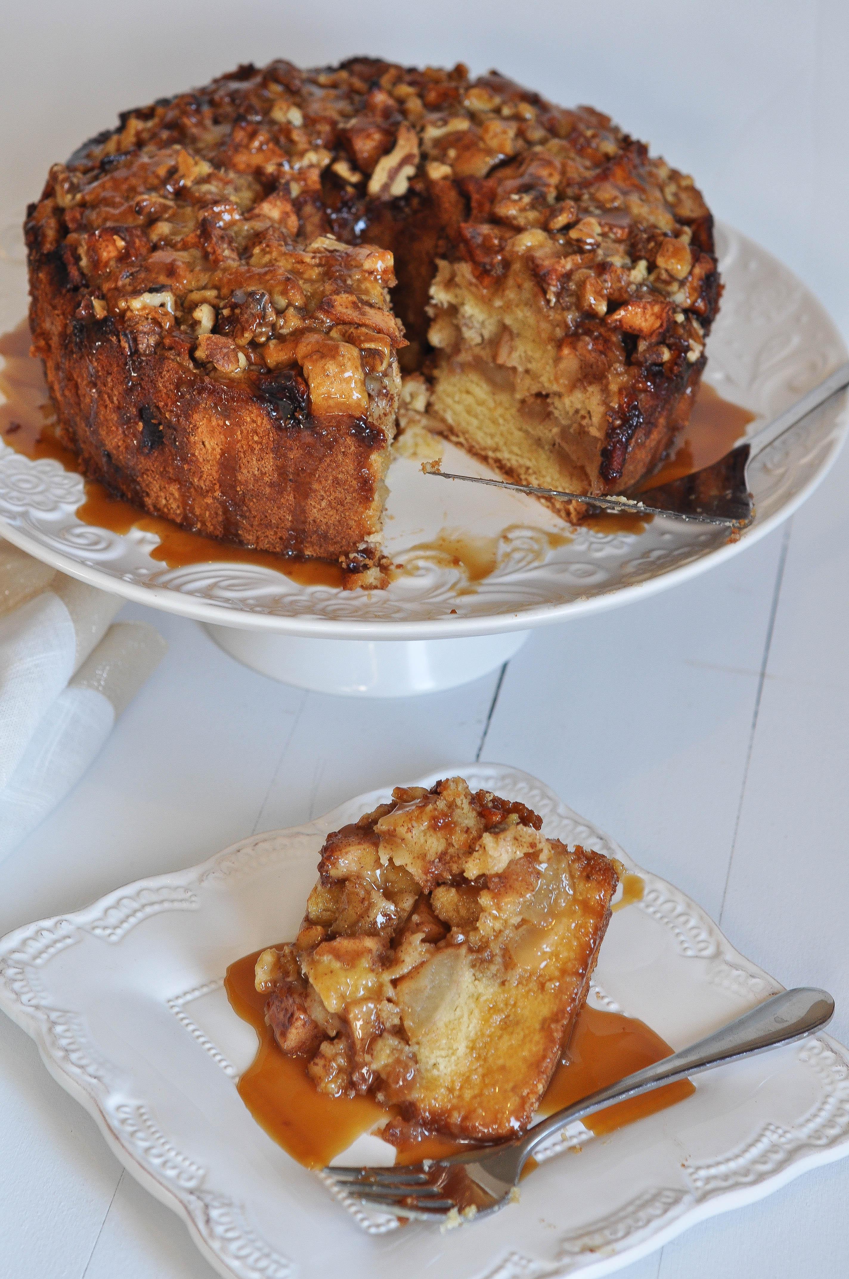 Irish whiskey apple cake with irish whiskey caramel sauce irish apple cake with irish whiskey caramel sauce forumfinder Images