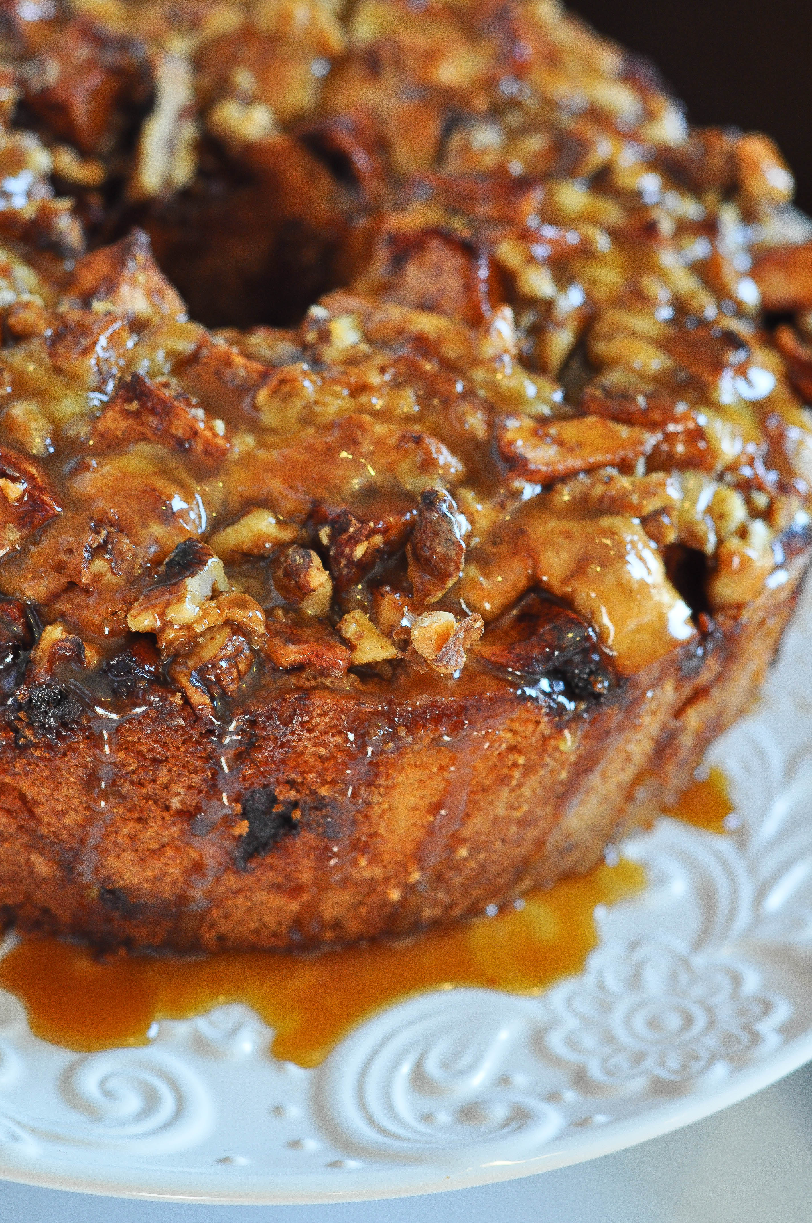 Irish Apple Cake with Irish Whiskey Caramel Sauce