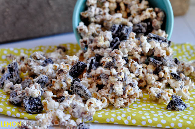 This snack couldn't be easier. Pop your popcorn, chop your oreos and ...