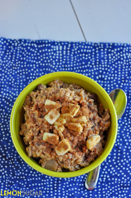 Slow Cooker Apple & Cinnamon Steel Cut Oats