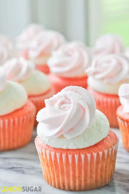 Strawberry Cupcakes with Ice Cream Buttercream | www.lemon-sugar.com
