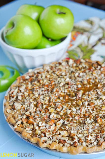 Caramel Pecan Apple Pie - Lemon Sugar