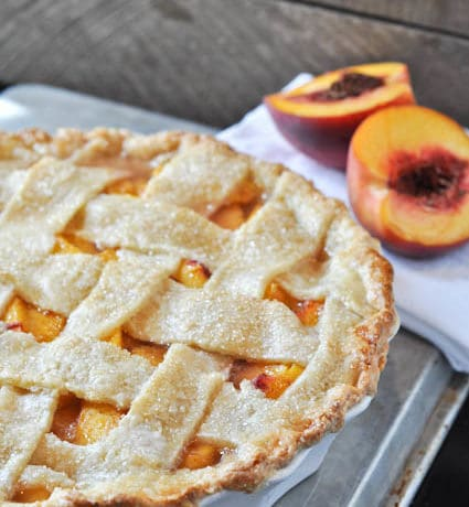 Peach Pie with Buttermilk Crust