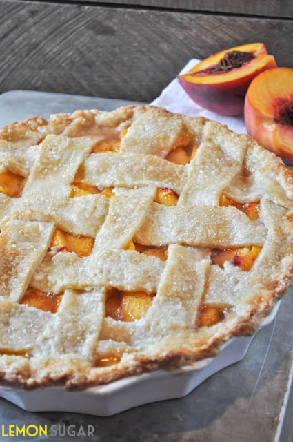 Peach Pie with Buttermilk Crust | www.lemon-sugar.com