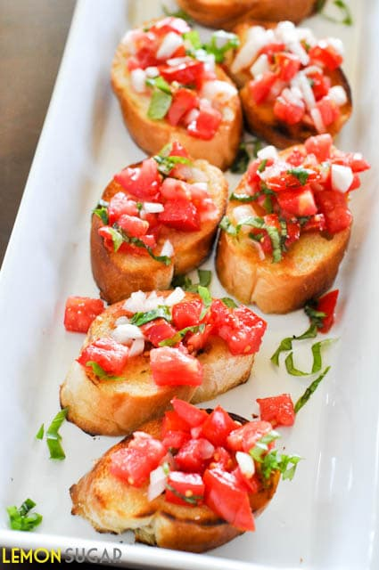 Tomato & Basil Bruschetta - Lemon Sugar