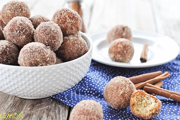 Applesauce Doughnut Holes | www.lemon-sugar.com