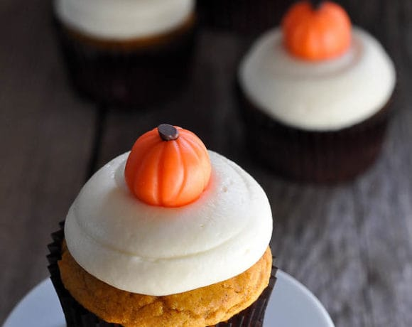 Pumpkin Cupcakes & Homemade Pumpkin Candies