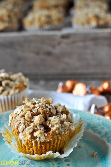 Pumpkin Kisses Muffins | www.lemon-sugar.com