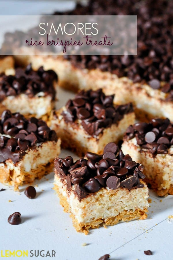 mores Rice Krispies Treats | www.lemon-sugar.com