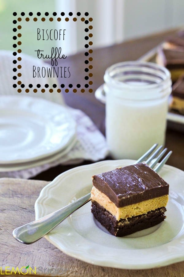 Biscoff Truffle Brownies | www.lemon-sugar.com