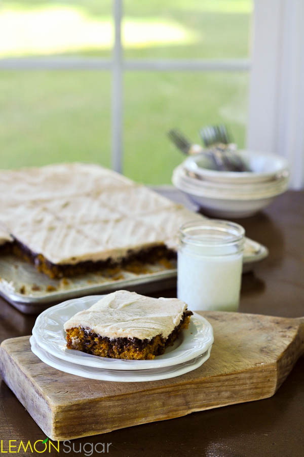 Pumpkin Nutella Swirl Bars | www.lemon-sugar.com