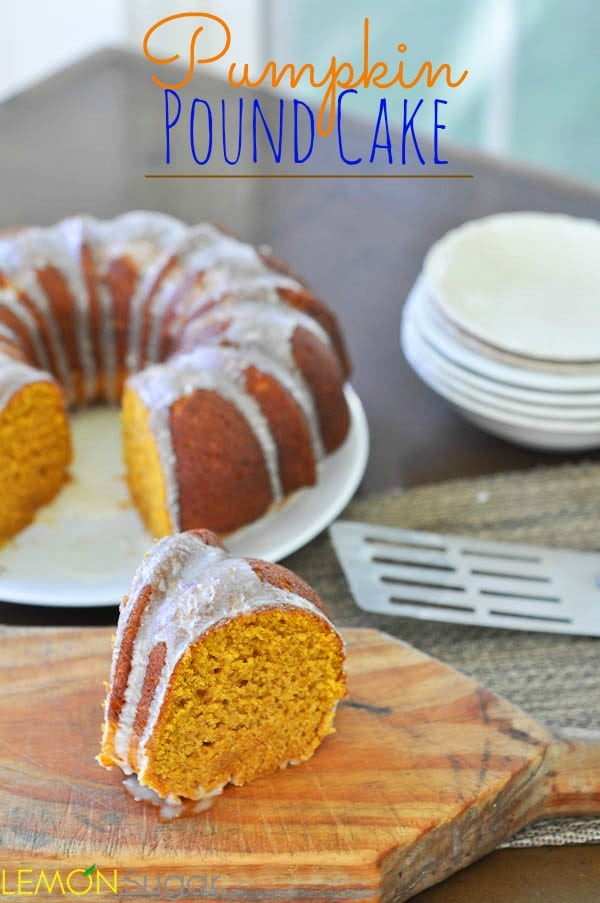 Pumpkin Pound Cake | www.lemon-sugar.com