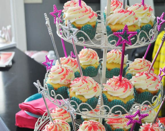 A Spa Party & Funfetti Cupcakes