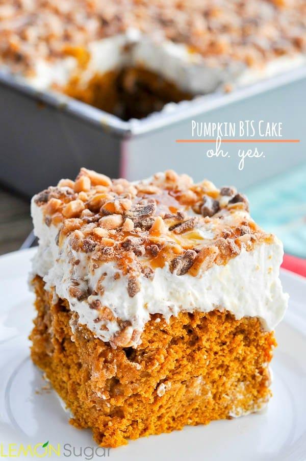 Pumpkin BTS Cake | www.lemon-sugar.com