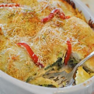 Spinach Ravioli Lasagna