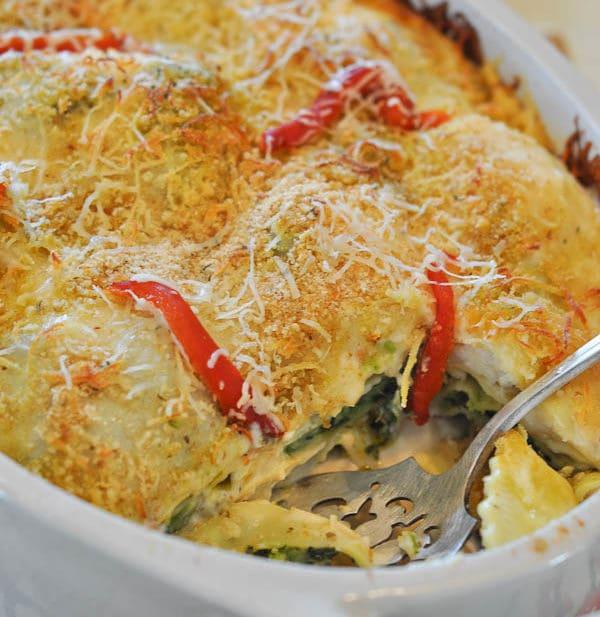 Spinach Ravioli Lasagna-0026