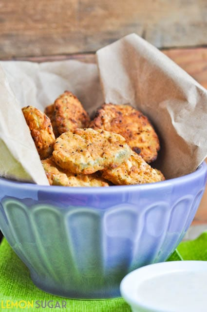 Deep Fried Pickles with Spicy Ranch | www.lemon-sugar.com
