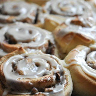 Throwback Thursday: One Hour Maple Pecan Cinnamon Rolls