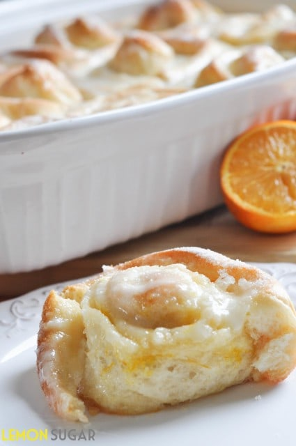 Orange Sweet Rolls | www.lemon-sugar.com