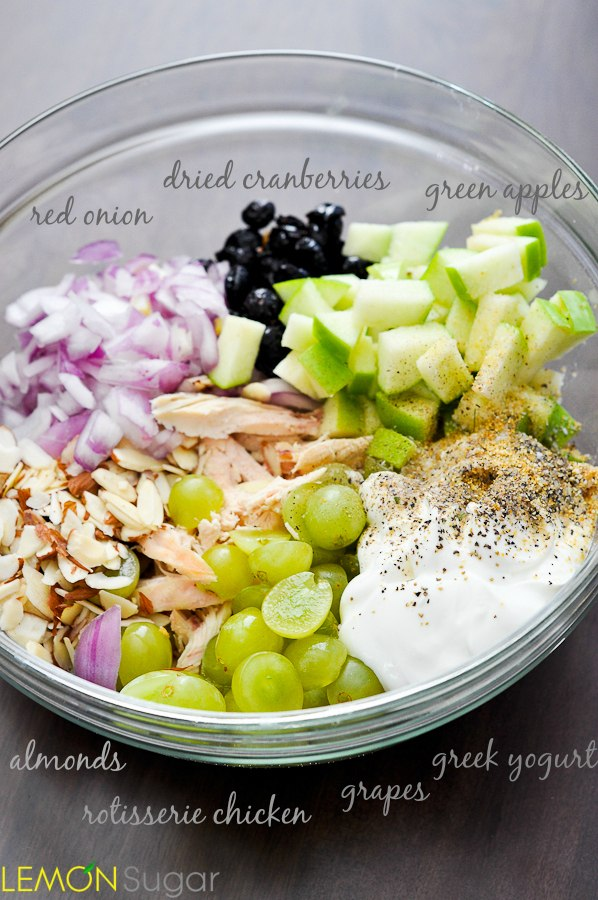 Healthy Chicken Salad Lemon Sugar