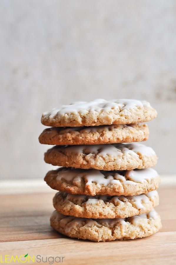 Iced Oatmeal Cookies   www.lemon-sugar.com