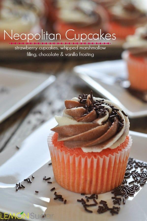 Neopolitan Cupcakes | www.lemon-sugar.com