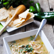Charred Poblano White Chicken Chili