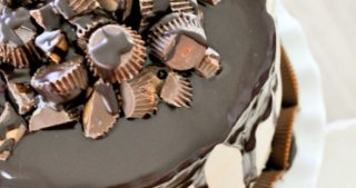 The Ultimate Peanut Butter Cup Chocolate Cake-0472