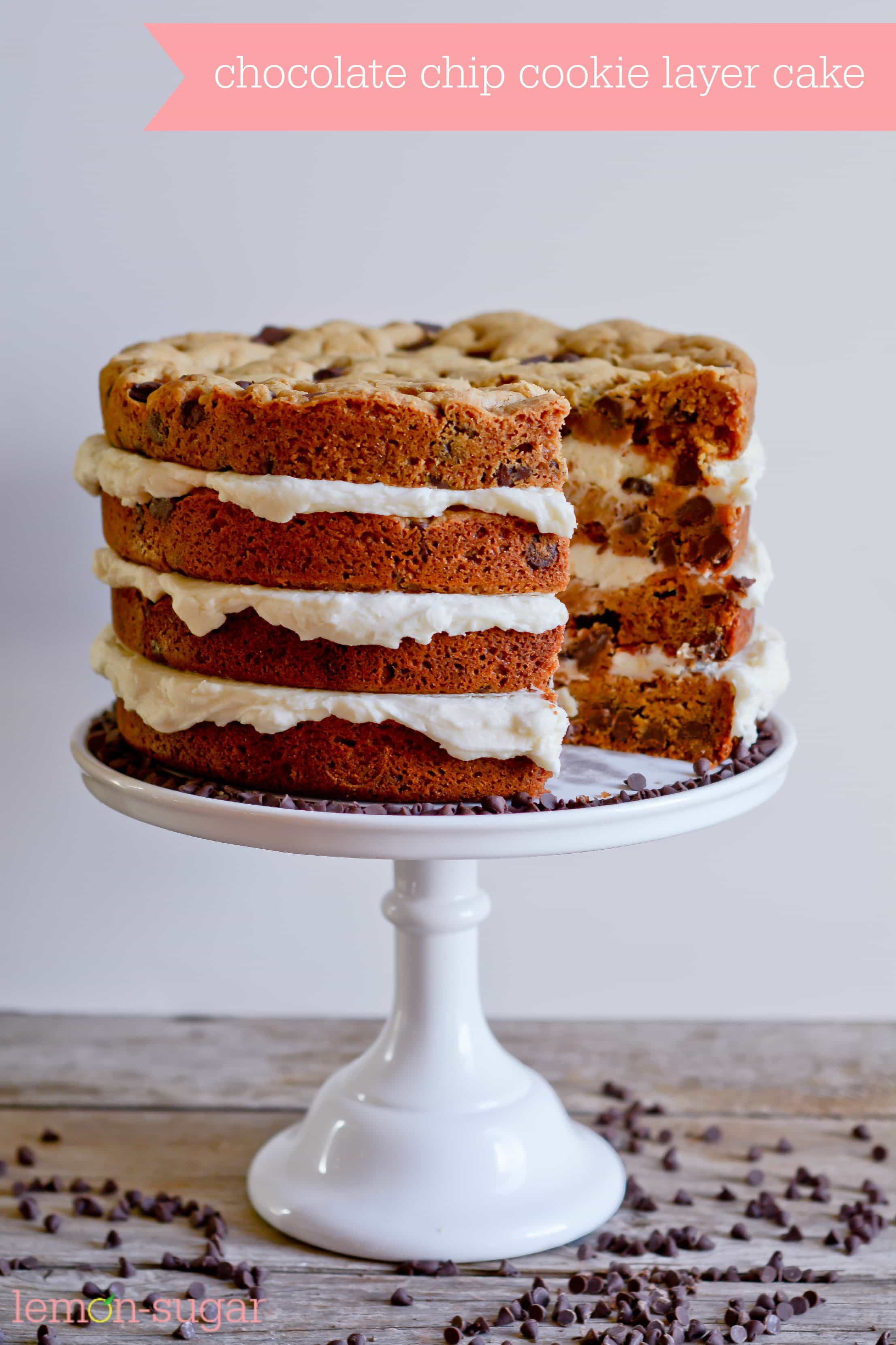 Chocolate Chip Tiered Cake