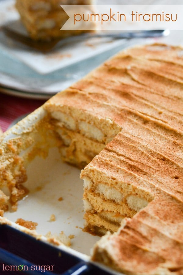 Pumpkin Tiramisu | lemon-sugar.com