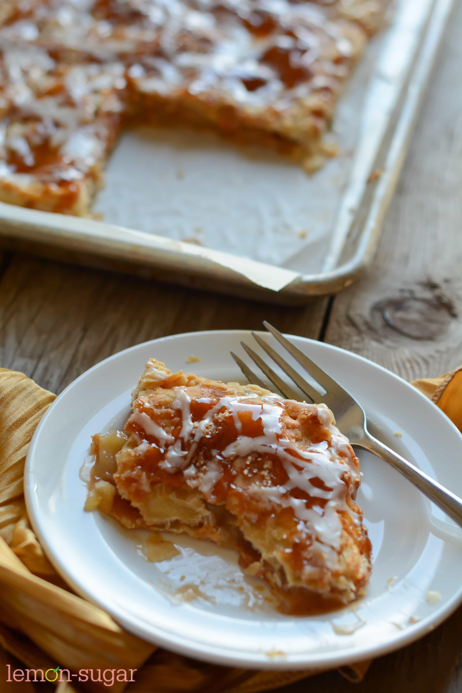 Salted Caramel Apple Slab Pie | Lemon Sugar