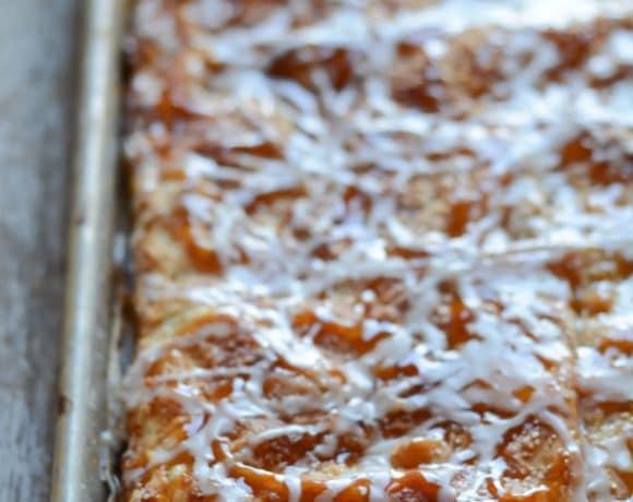 Salted Caramel Apple Slab Pie