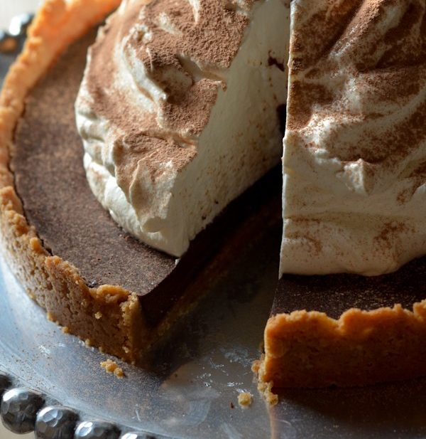 Chocolate Tart with Shortbread Crust-1449