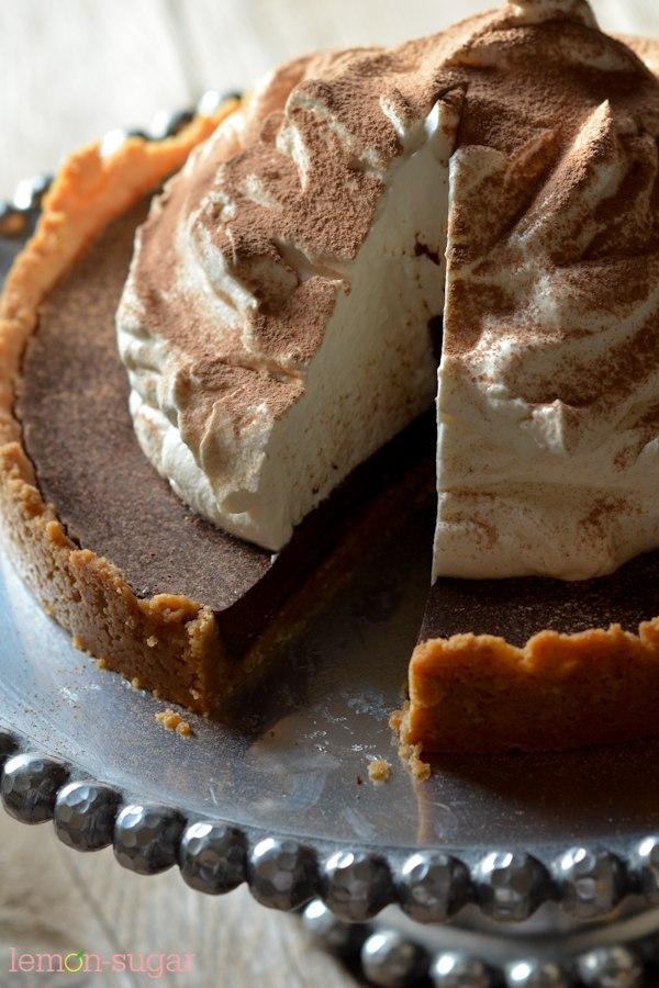 Chocolate Tart with Shortbread Crust | lemon-sugar.com