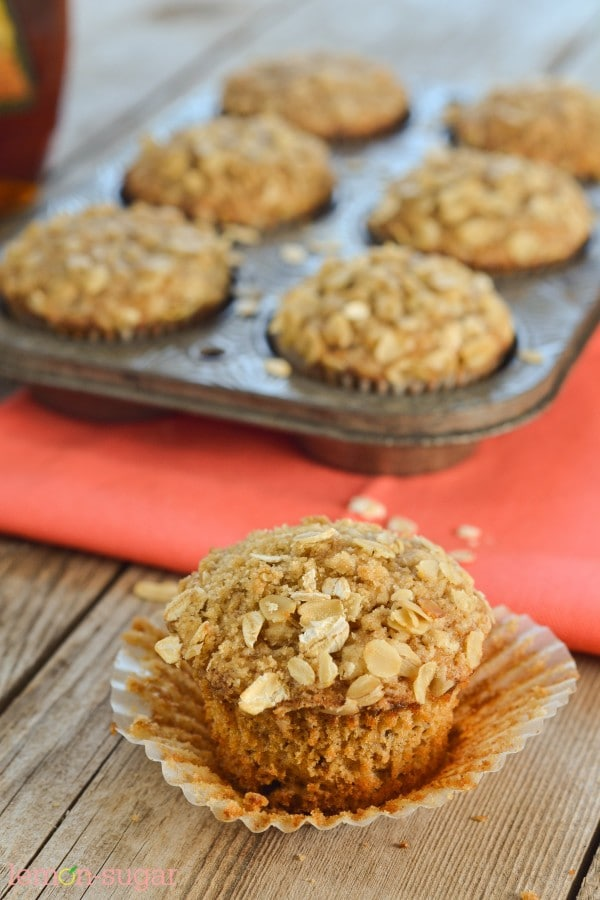 Maple Oat Muffins | www.lemon-sugar.com